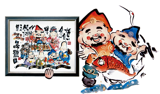 開店お祝い絵画 枝川
